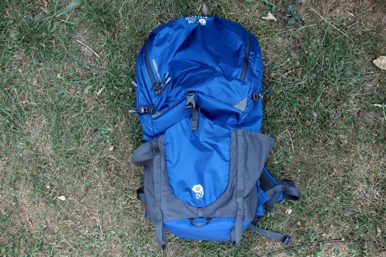 Vorderseite Mountain Hardwear Rainshadow 36 Outdry Rucksack
