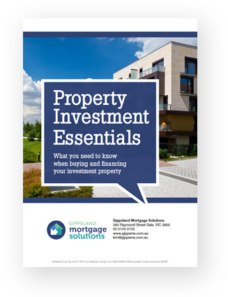Gippsland Mortgage Solutions brochure cover for Property Investment Essentials