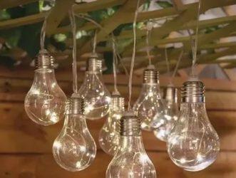 Өз қолдарымен қыздыру лампалары гирляндасы