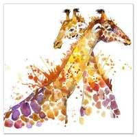 Animal Canvas Wall Art Abstract Giraffe Watercolor ...