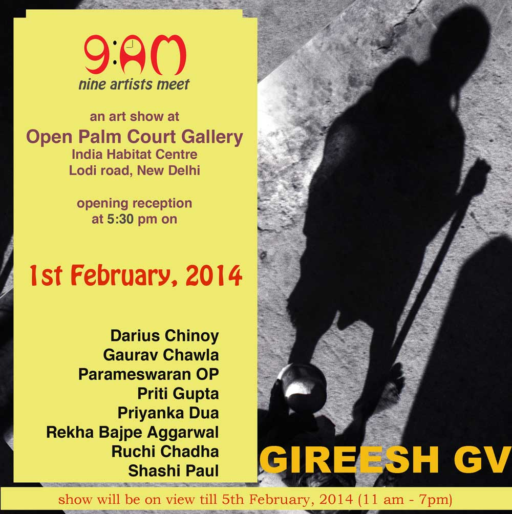 Group show by nine artists