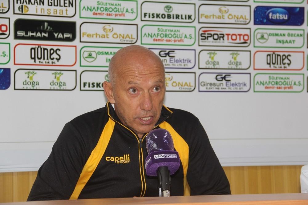 Giresunspor – Adanaspor maçının ardından