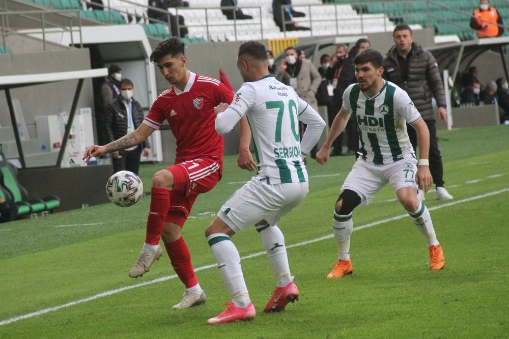 TFF 1. Lig: Giresunspor: 1 – Ankaraspor: 0 (İlk yarı sonucu)