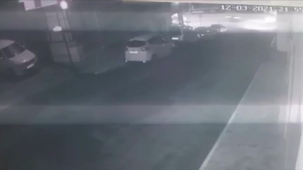 Giresun'da motosiklet kazası güvenlik kameralarına yansıdı
