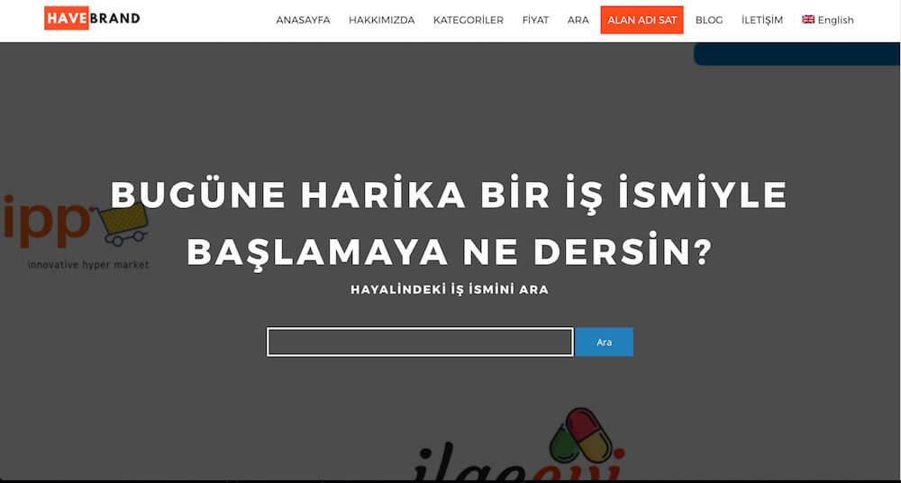 Alan Adı Satışına Yepyeni Bir Bakış : HaveBrand