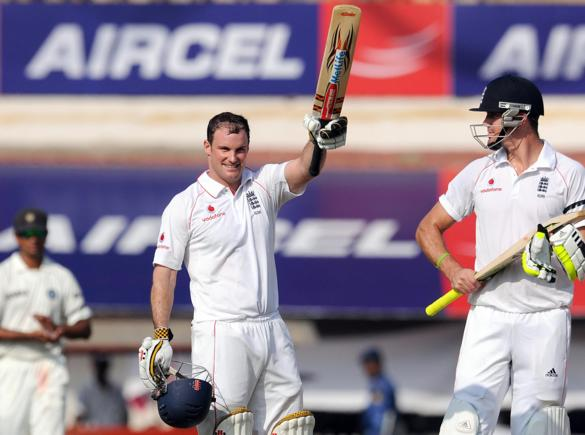 Strauss scored a magnificent century on day 1