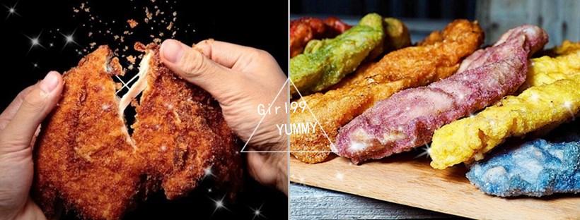 彩虹雞排竟是用天然蔬菜做成的!!排隊超人氣夜市美食~有色的雞排只有「雞排本色」才有!