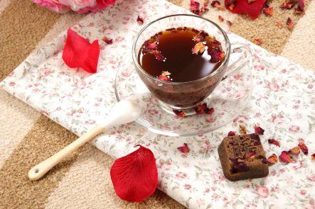 玫瑰四物茶