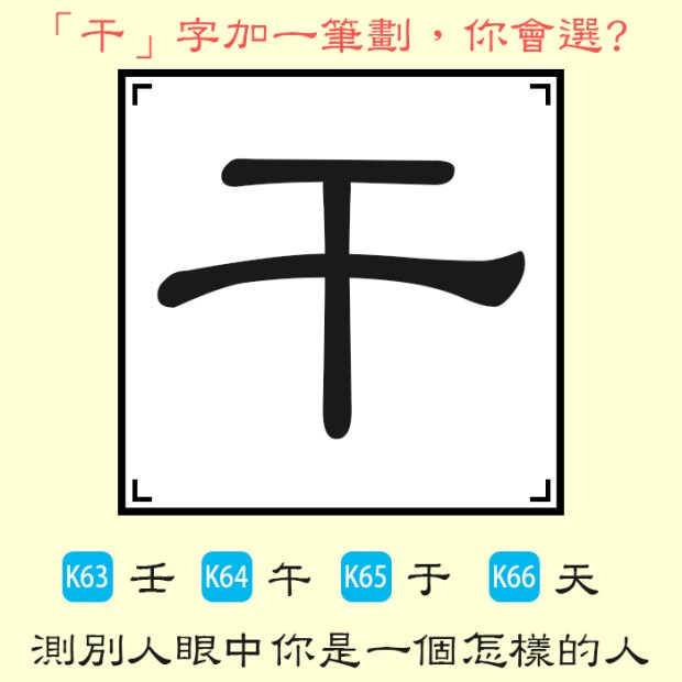 465_干字加一筆選一個字,測別人眼中你是一個怎樣的人_主圖.jpg