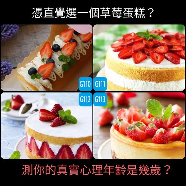 憑直覺選一個草莓蛋糕?測你的真實心理年齡是幾歲?
