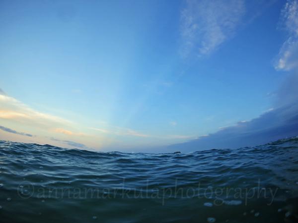 ocean stormy sky Sunshine Coast
