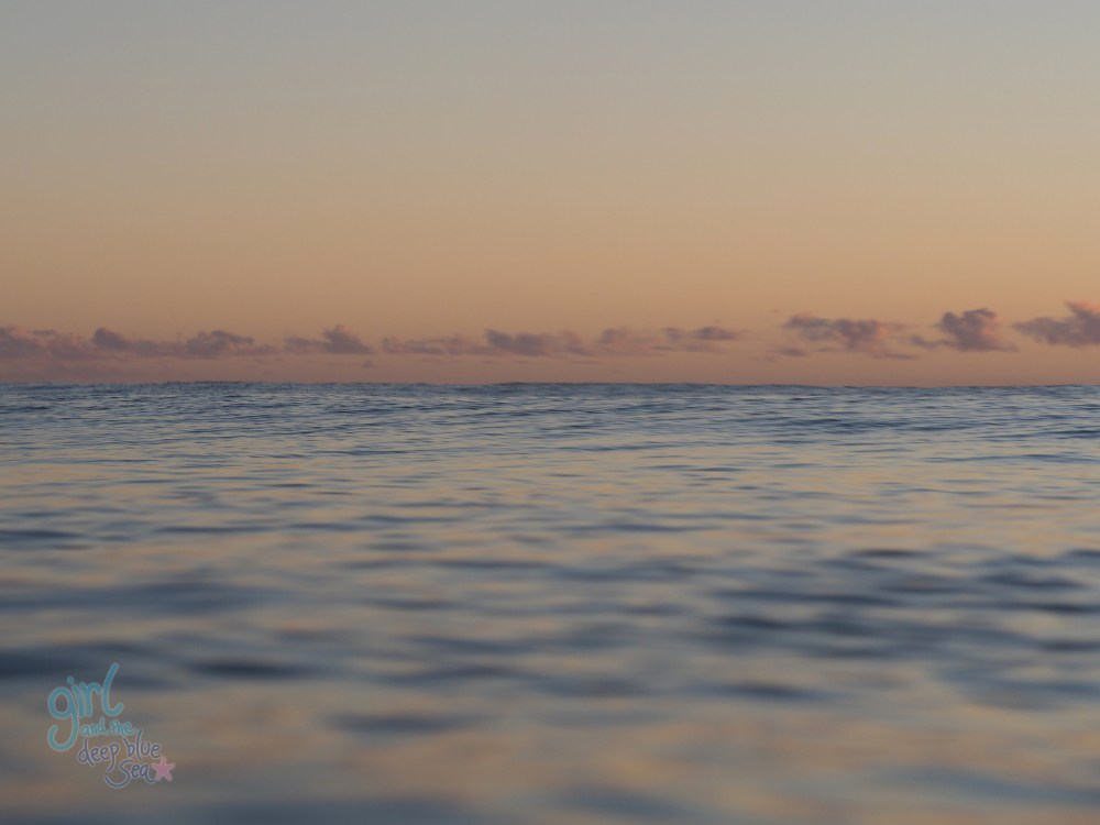 pastel ocean Burleigh beach