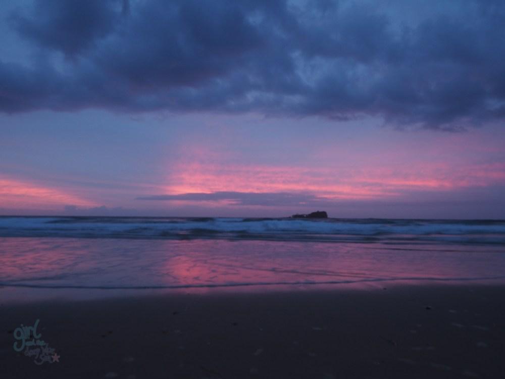 pink sky landscape Mudjimba Beach