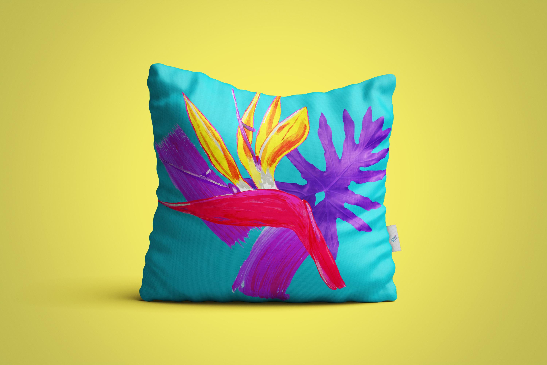 bright tropical art by Australian artist