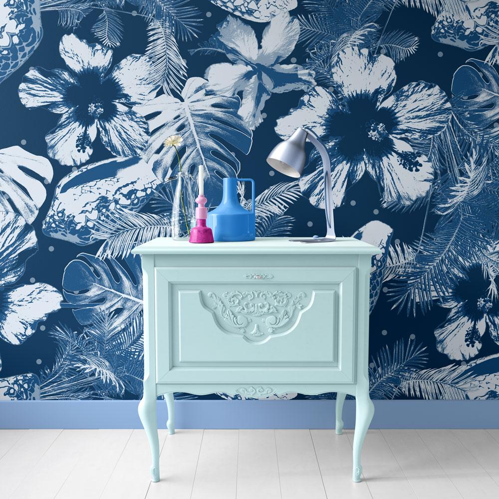 Blue Lagoon pattern design wallpaper