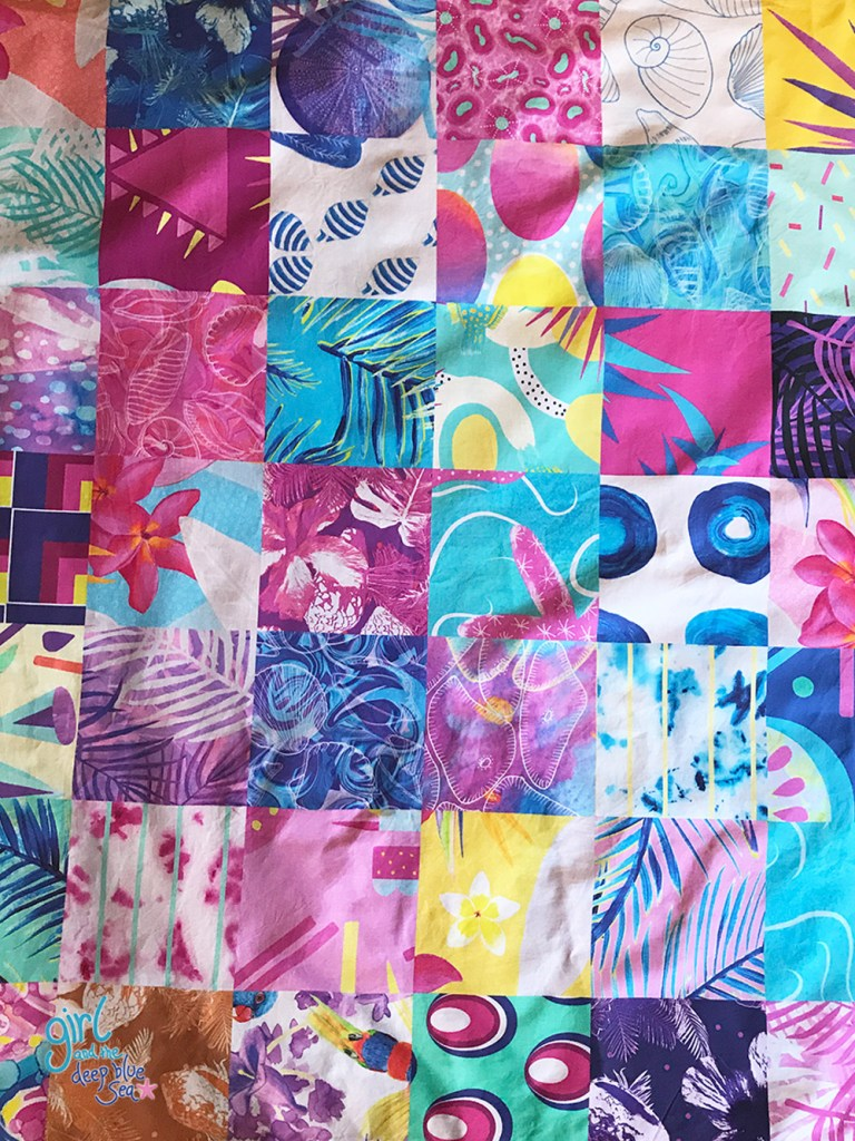 new Spoonflower fabric designs on a fill-a-yard sample