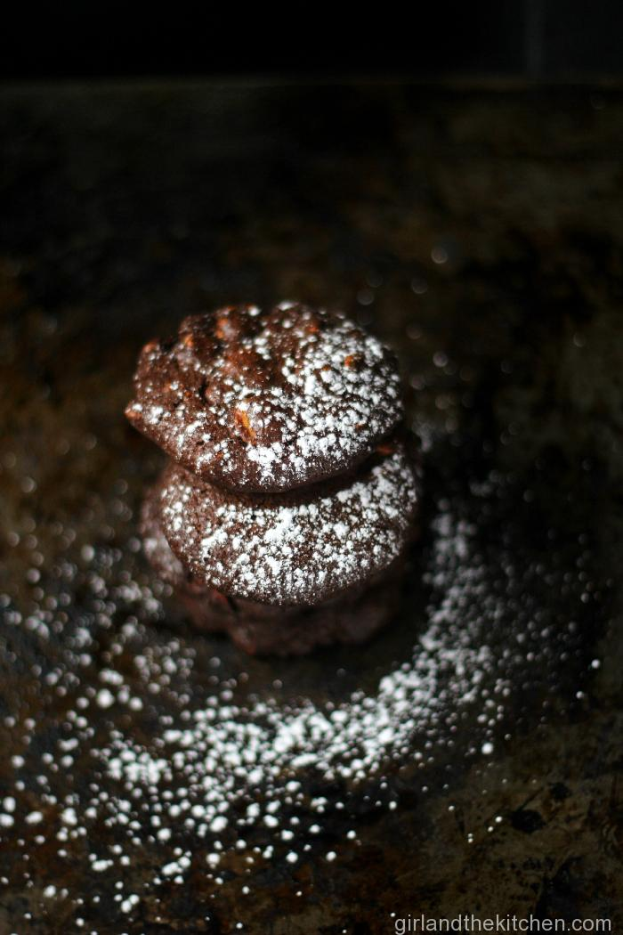 Diamond Speckled Lump of Coal Cookies from the Girl and the Kitchen
