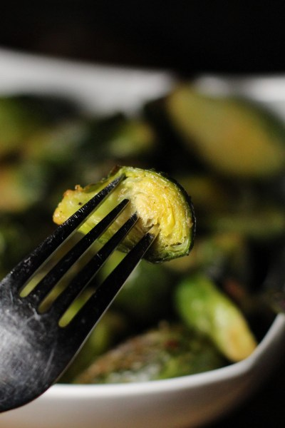 Roasted Garlic and Chili Flake Brussel Sprouts. Girl and the Kitchen