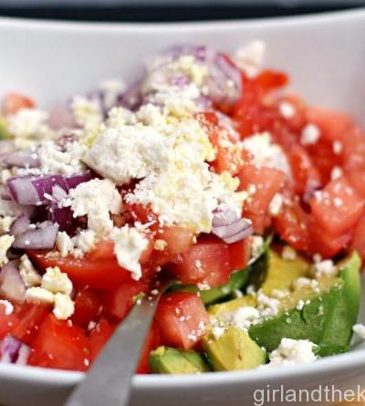 A refreshing, colorful and light summer salad perfect for the outdoors
