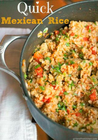 Restaurant Style Mexican Rice Mexican Rice from the Girl and the Kitchen