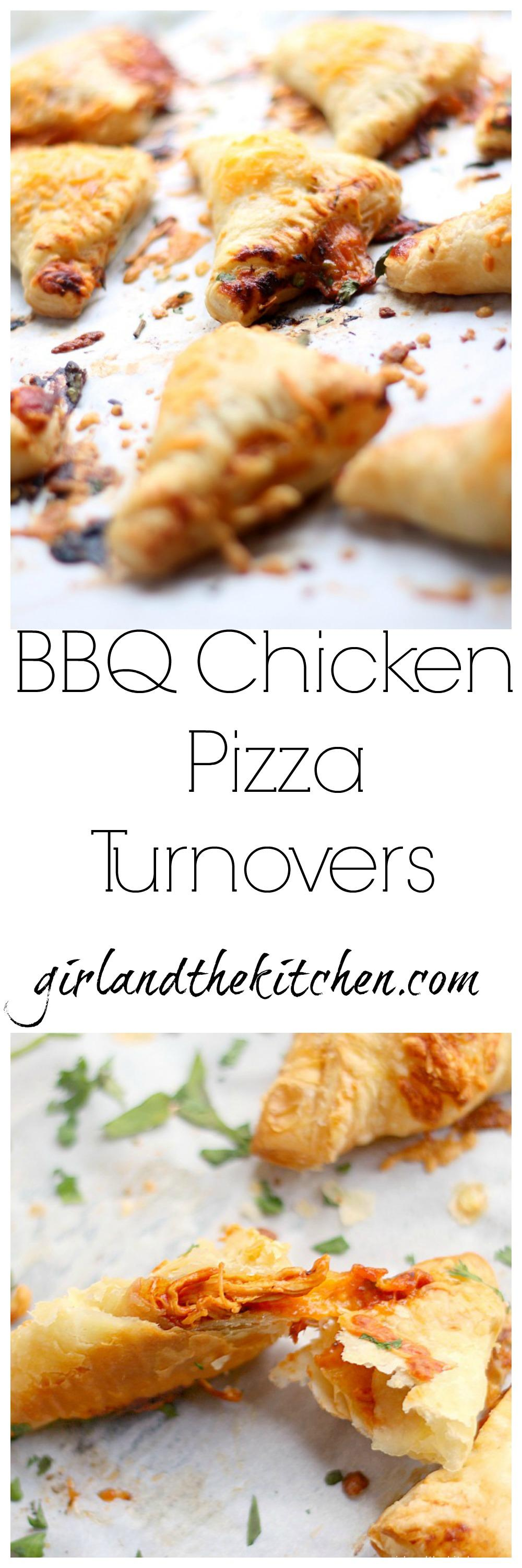 BBQ Chicken Pizza Turnovers Collage