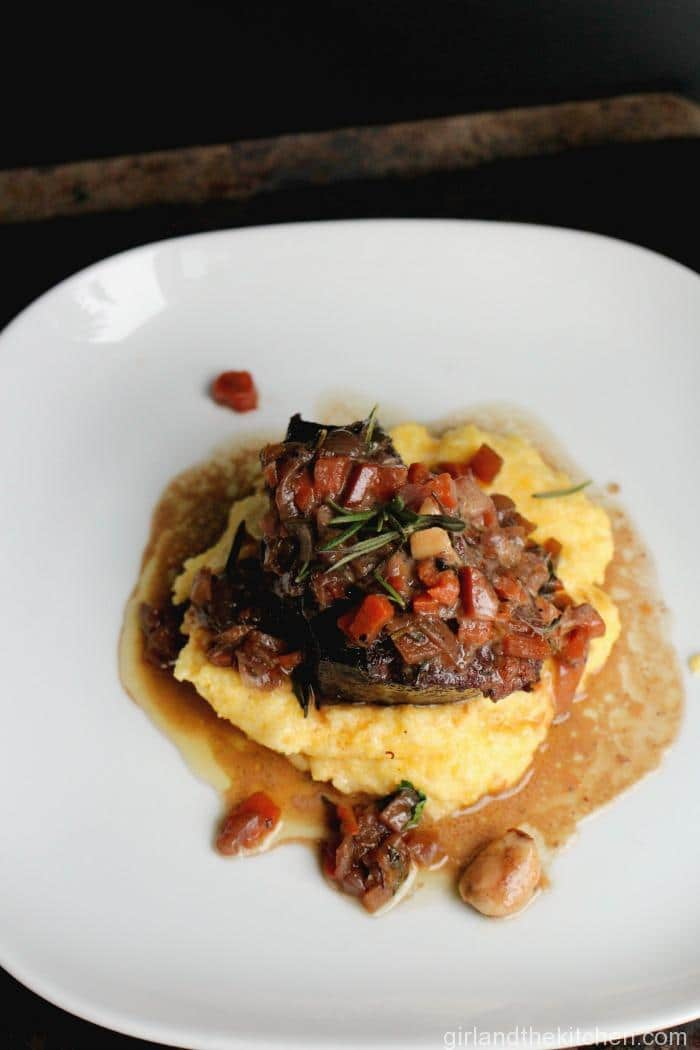 Braised Short Ribs with Creamy Parmesan Polenta. https://girlandthekitchen.com