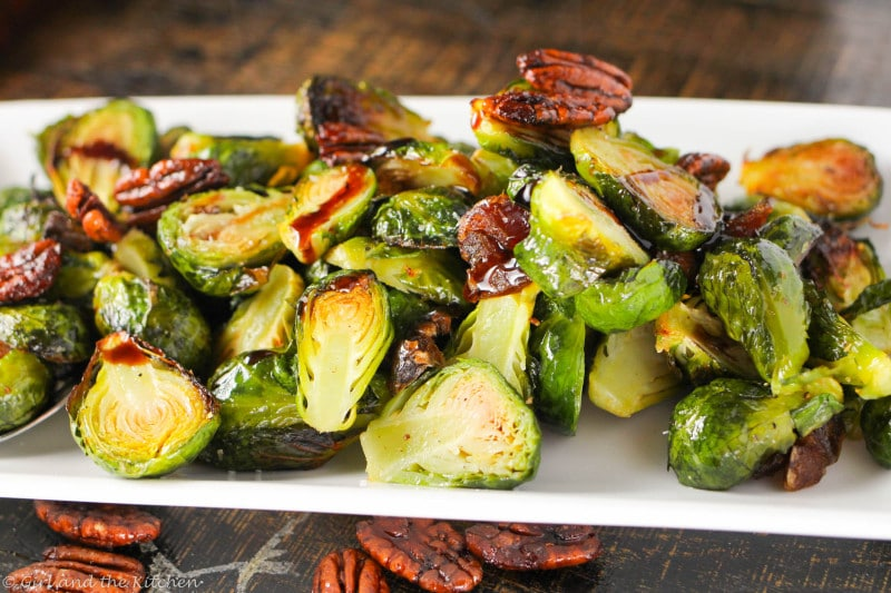 Caramelized Balsamic Glazed Brussel Sprouts