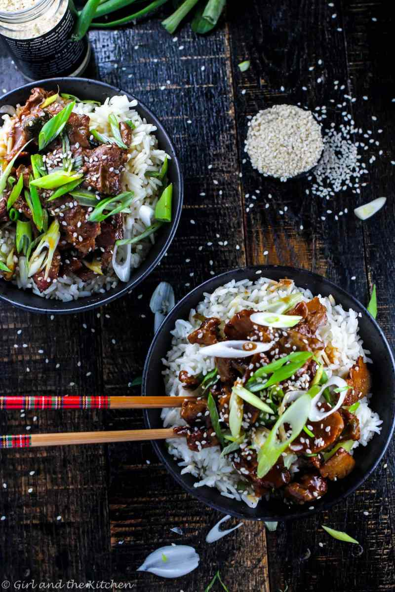 """A vegan version of my favorite Chinese take out! This Mongolian """"Beef"""" is tender, saucy and perfectly savory. All of the flavor and you can feel good about eat a great plant based meal!"""