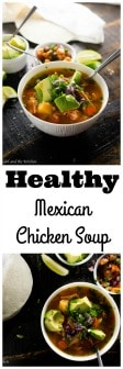 Mexican chicken soup is a comforting soup full of aromatic vegetables, tender chicken and warm spices. A perfect twist on the classic chicken soup favorite.