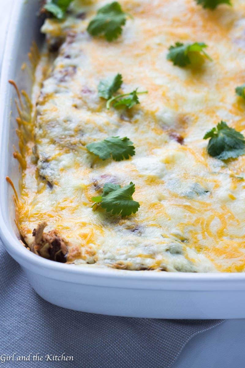 Creamy White Chicken Enchiladas Girl And The Kitchen