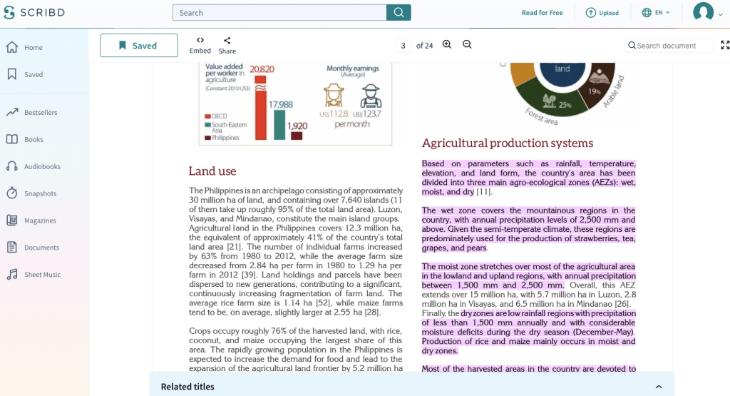 Scribd highlighted with Weava