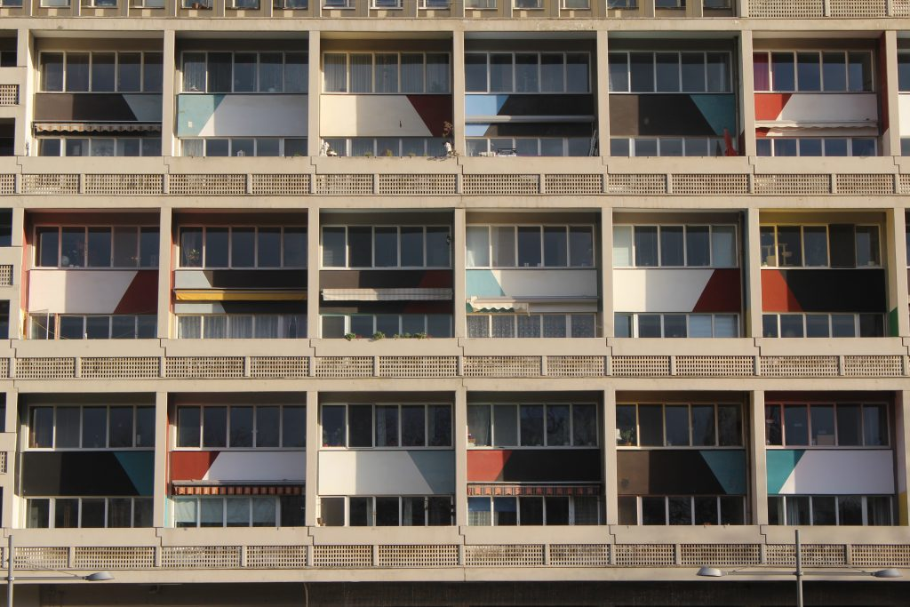 Unité d'Habitation of Berlin as an example of Brutalist Architecture or Brutalism