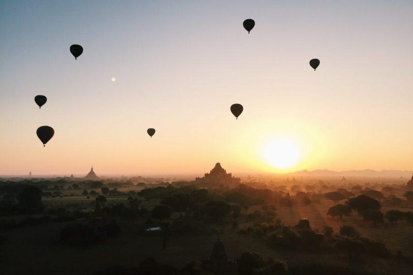 Sunrise in Bagan, Burma