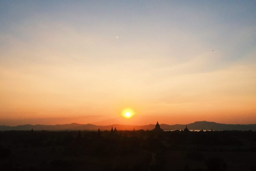 Sunset in Bagan from Shwesandaw