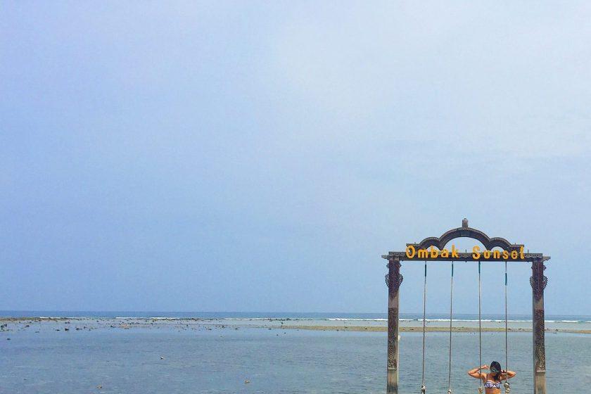 The swing at Ombak Sunset