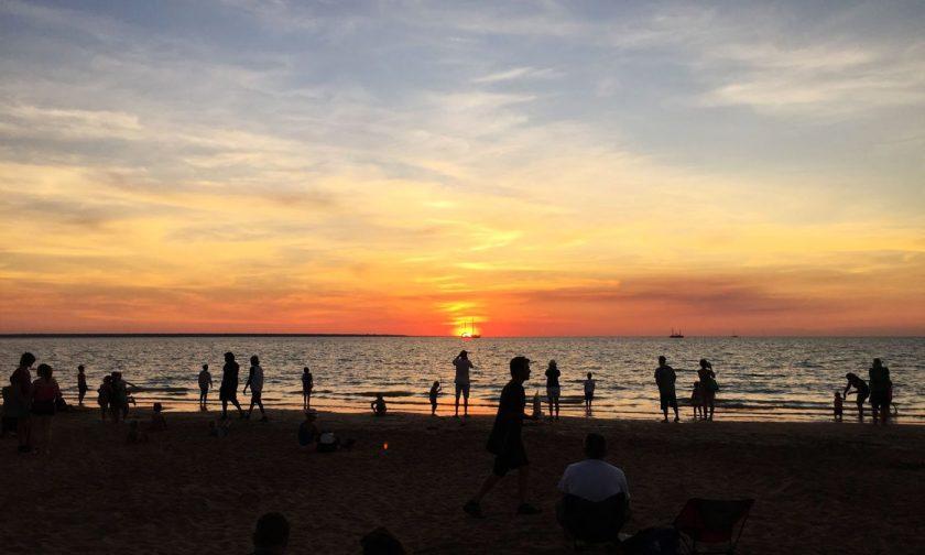 The sun has set at Mindil Beach