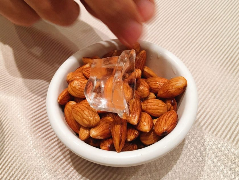 Cold Almonds with Ice