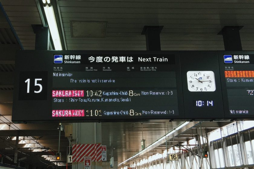 Train information signboard