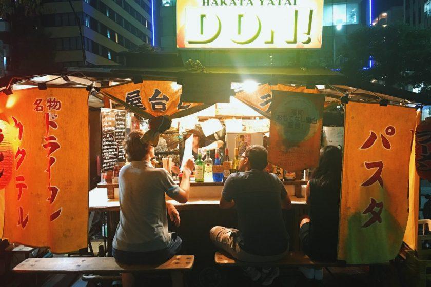 Yatai Stall on Watanabe dori in Fukuoka