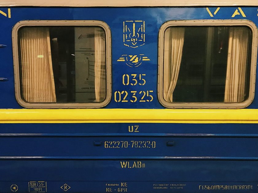 Ukrainian Train on polrail