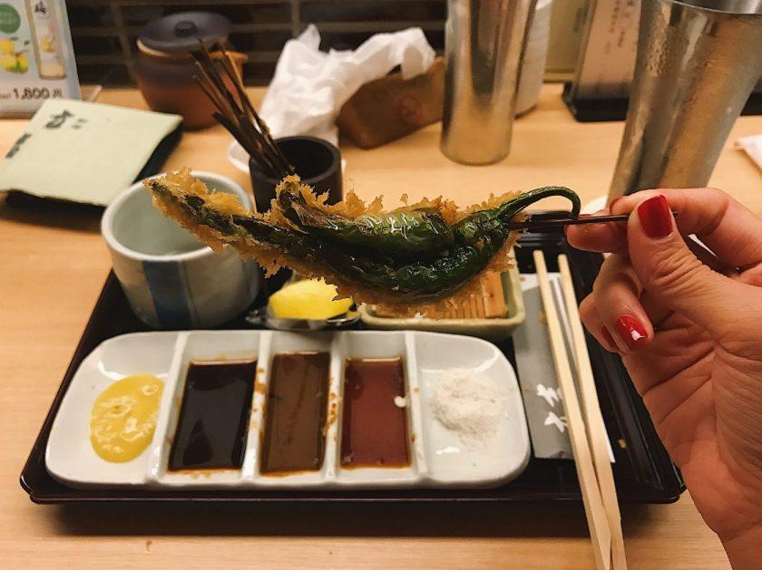 Kushiage at Tatsukichi in Shinjuku, Tokyo