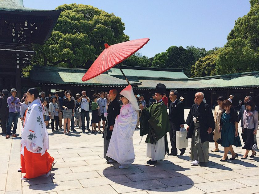 A Shinto wedding at Meiji Jingu
