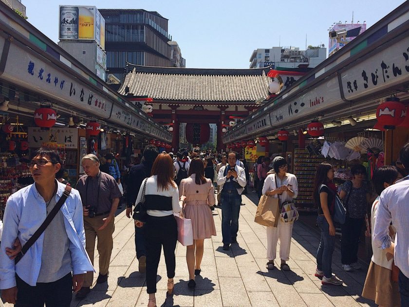 Nakamise Shopping Street in front of the Asakusa Sensoji Temple