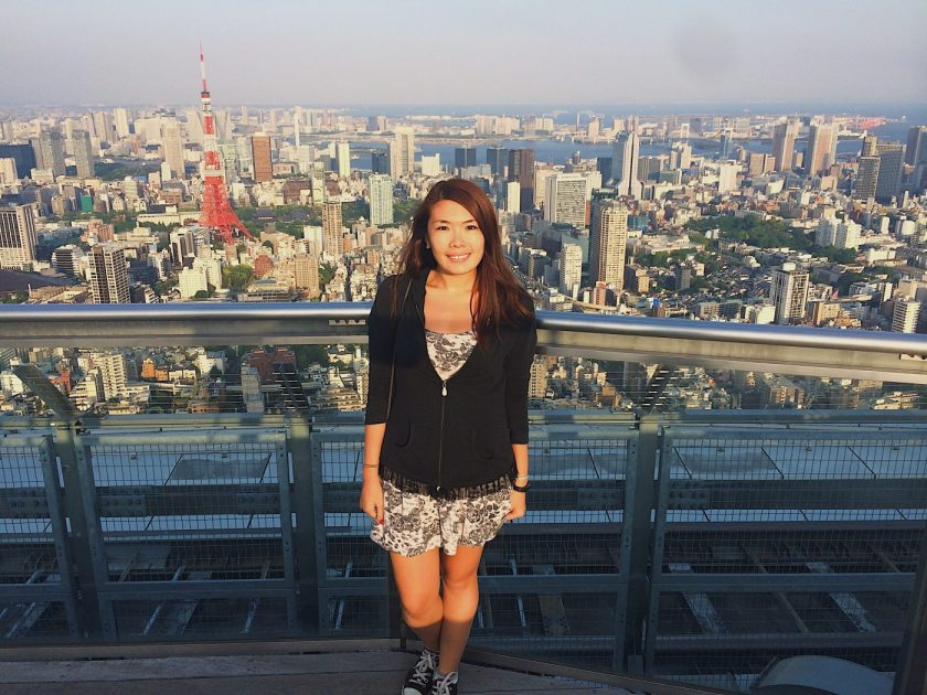 At the rooftop of Tokyo Skydeck in Roponggi