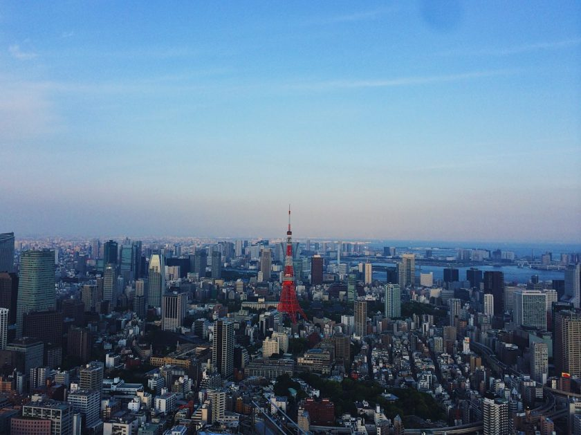 Tokyo Tower just before sunset