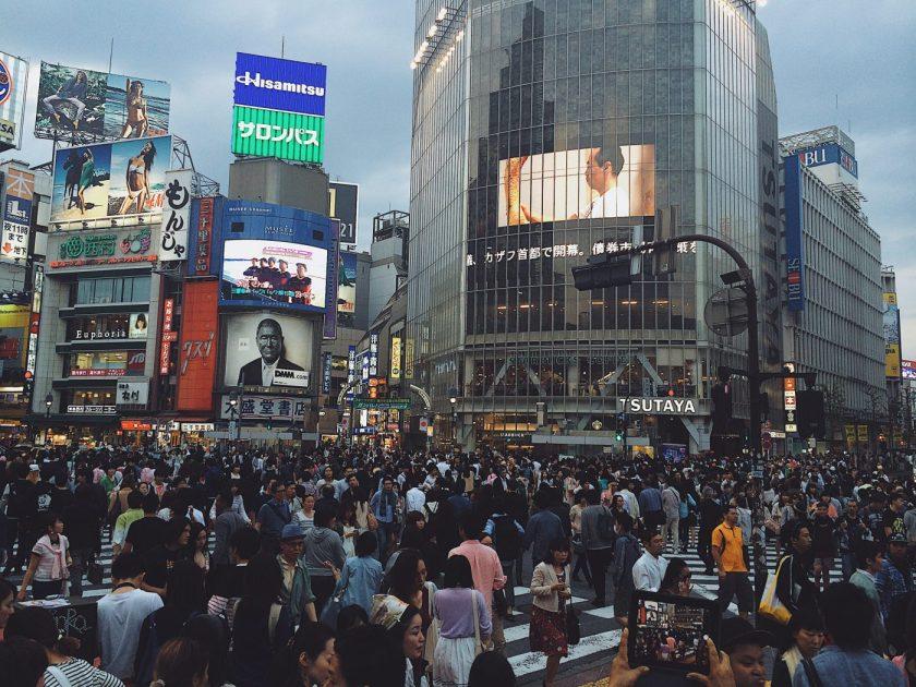 The famous Shibuya Scramble Crossing