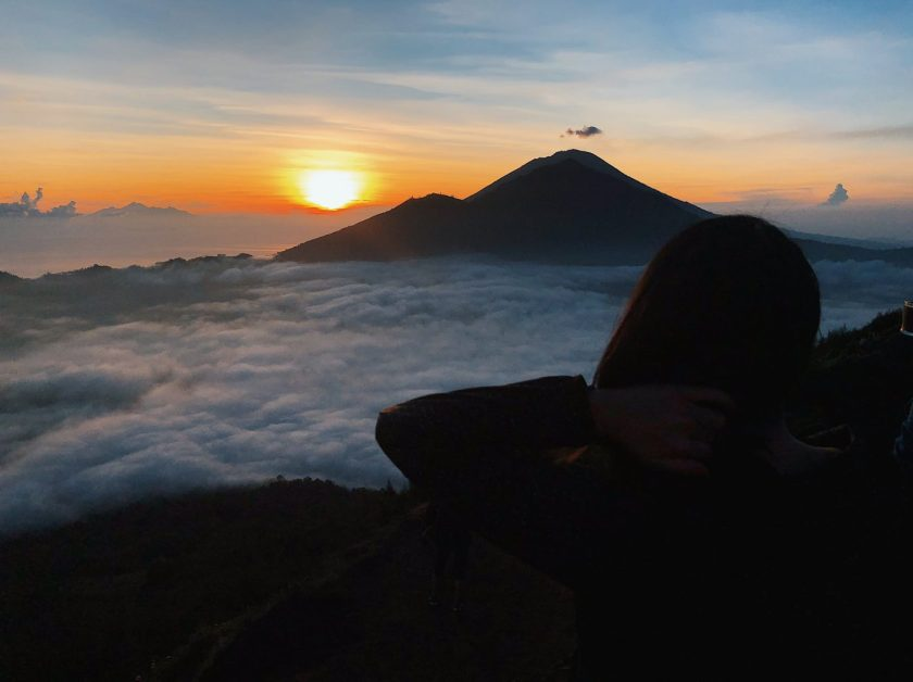 Waiting for the sunrise at Mount Batur