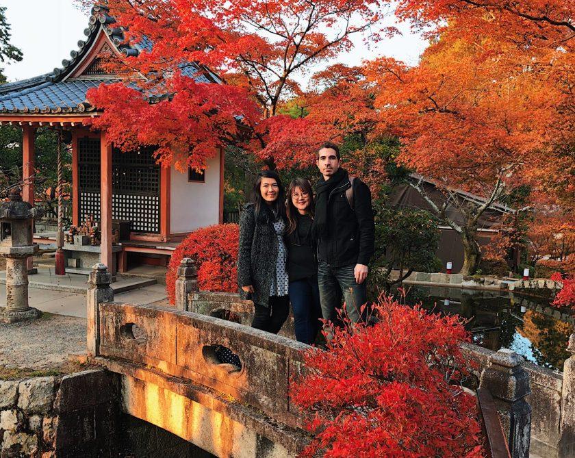Us on a bridge in Kiyomizu-dera