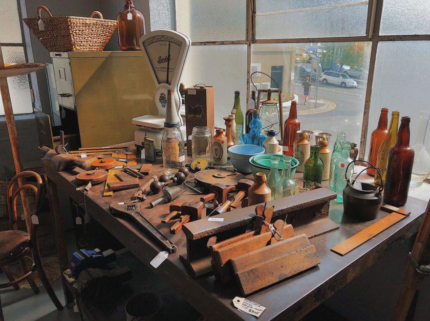 Some goods at Vintage@44, a Vintage shop in Hobart