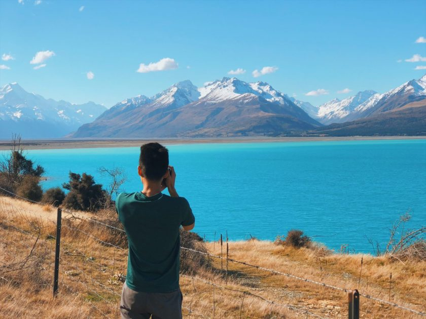 Lucas at Lake Pukaki